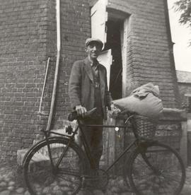 Bill Mead with his delivery bicycle