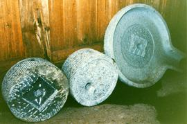 Photograph of Chinese millstones