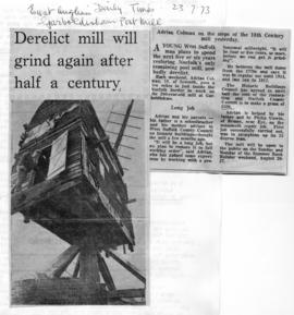 """Derelict mill will grind again after half a century"""