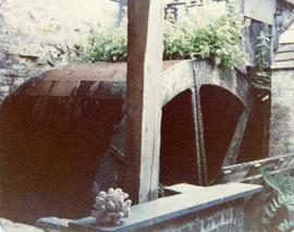 Waterwheel from downstream, Field Mill, Egerton