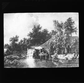 Picture of a water mill by Hobbema