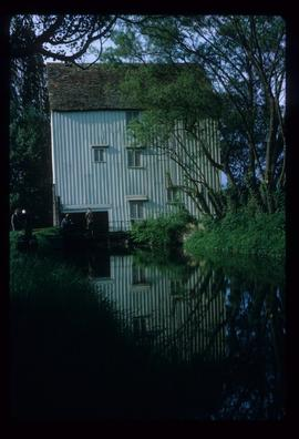 Watermill, Lode, preserved, with mill race