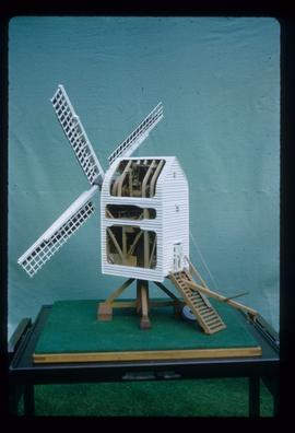 Model of post mill built by F W Gregory, based on Nutley Mill