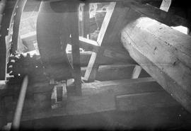 Part of wind shaft and brake wheel, post mill, Costock