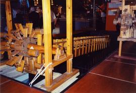 Photograph of a Chinese Dragon wheel pump model