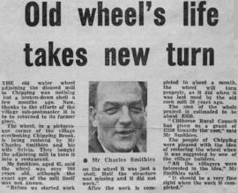 """Old wheel's life takes new turn"""