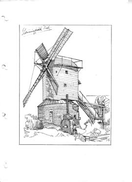 "Finished version of ""Stanningfield"" postmill, Suffolk."