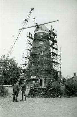 Tower Mill in construction, Stansted Windmill, Stansted Mountfitchet