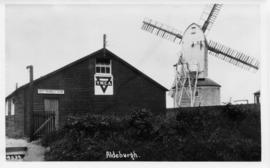 Station Mill, Aldeburgh, with YMCA hut