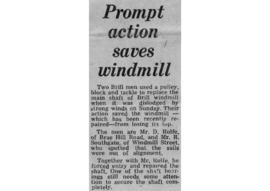 """Prompt action saves windmill"""