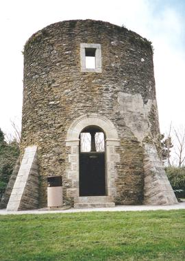 Remains of the tower mill above Fowey, Cornwall