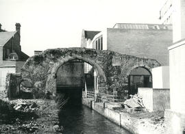 A three arched wall of Abbey Mill, Reading