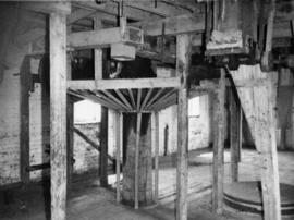 Stone floor with guard on crown wheel, Burcombe Mill, South Newton