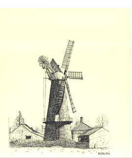 Freehand sketch of Alford mill