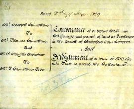 Indenture, Scrimshaw's Mill, Bottesford Leicestershire