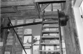 Layshaft and ladder, post mill, Chillenden