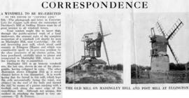 """A windmill to be re-erected"""