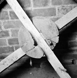 Detail of pully in the roof, Barcombe Farm, Alton Pancras