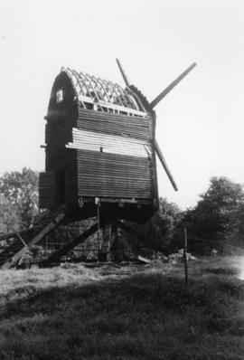 Post mill, Nutley, under restoration