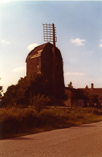 derelict post mill at noreballe lolland denmark images amp