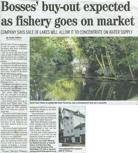 """Bosses' buy-out expected as fishery goes on market"""