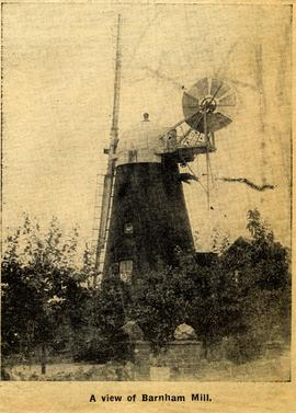 """""A view of Barnham Mill"""