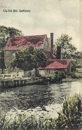 Old Mill, Spettisbury, and boys fishing