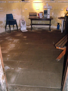The completed basement floor at Heage Tower Mill