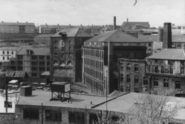 View of complex from elevated viewpoint, Ouse Burn Mills, Newcastle upon Tyne