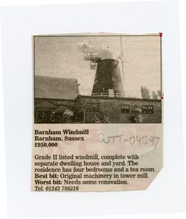 """Barnham Windmill for Sale"""