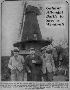 """Gallant all-night battle to save a windmill"""
