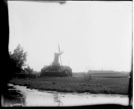 Hollow post mill above building, Holland