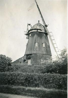 Smock mill, Balsham, in decline