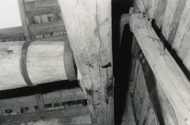 Crank and windshaft in a toe mill in Evijärvi, South Bothnia