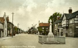 War Memorial and Victoria Street, Billinghay