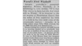 """Wirral's first windmill"""