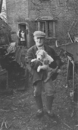 Miller and dog, Town Mill, Biddenden