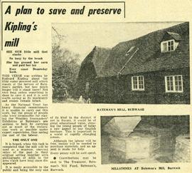 """A plan to save and preserve Kipling's mill"""