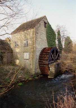 Downstream view, West Mill, Sherborne