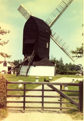 Outwood Post Mill, Outwood, preserved