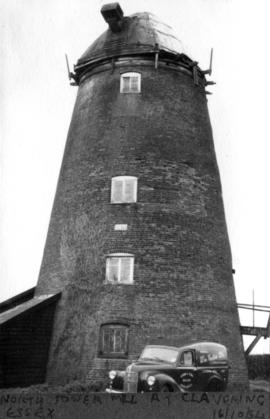 Outside view of North Tower Mill at Clavering, Essex