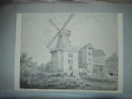 Photograph of painting of the Abbey Mills, West Ham