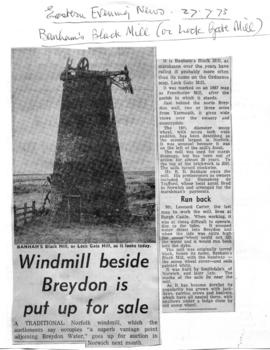 """Windmill beside Breydon is put up for sale"""