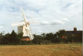 Upthorpe Road Mill, Stanton, across field
