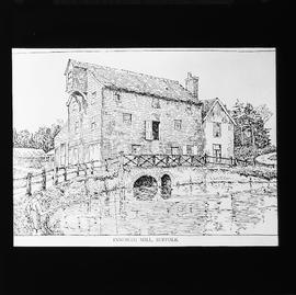 Photograph of drawing, watermill, Ixworth