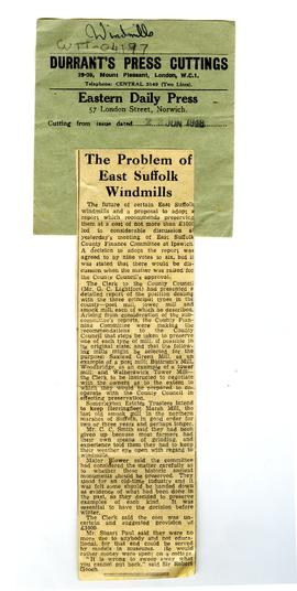 """The Problem of East Suffolk Windmills"""