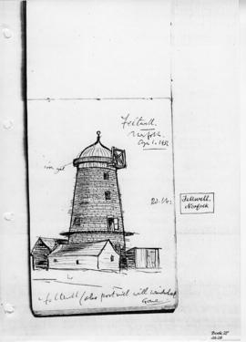 Feltwell Tower mill minus sails etc. Bk 27, no 28