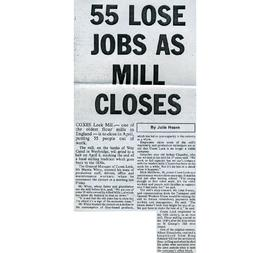 """55 lose jobs as mill closes"""