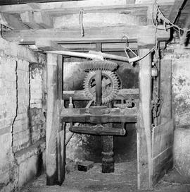 Detail view of the pit wheel and wallower, Puddletown Mill, Puddletown