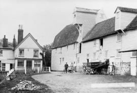 Bines Mill, Bures, with horse and cart